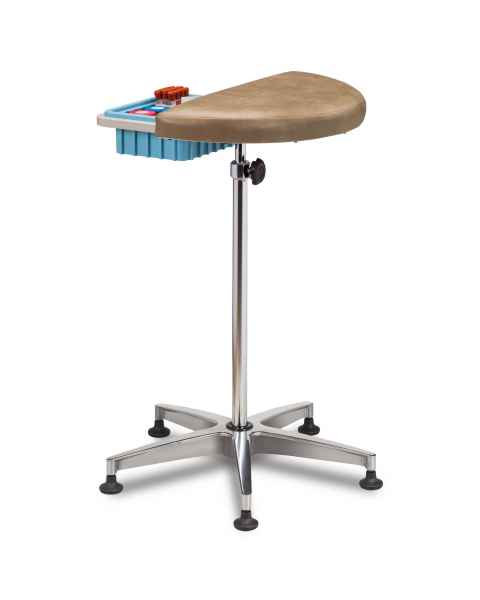Clinton 6940 Half Round Stationary Padded Phlebotomy Stand