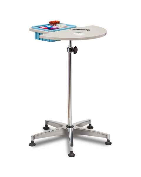 Clinton 6950 Half Round Stationary ClintonClean Phlebotomy Stand