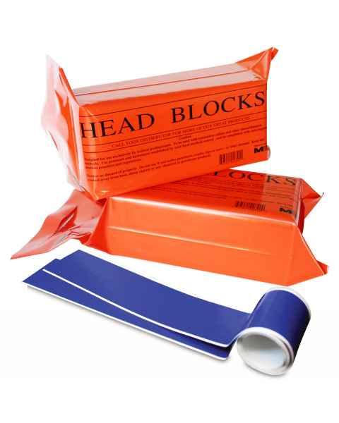 Morrison Medical 0322 Disposable Foam Head Blocks with Head/Chin Straps