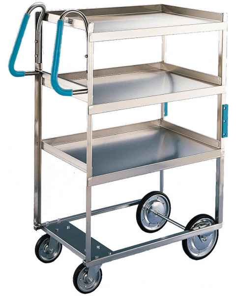 Lakeside Ergo-One Stainless Steel Utility Carts - 700 lbs Capacity - 3 Shelves