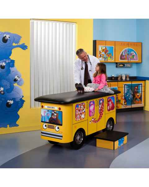 Clinton Model 7020-X Complete Zoo Bus Pediatric Treatment Table & Cabinets