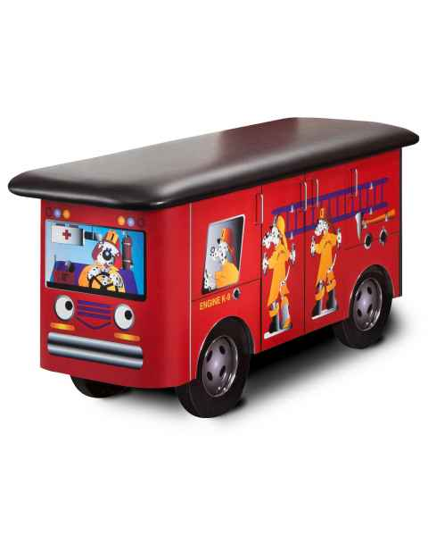 Clinton Model 7030 Fun Series Pediatric Treatment Table - Engine K-9 with Dalmatian Firefighters