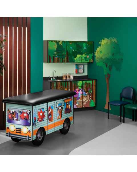 Clinton Model 7050-X Complete Cool Camper Pediatric Treatment Table & Cabinets