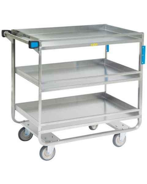Lakeside Stainless Steel Guard Rail Utility Carts