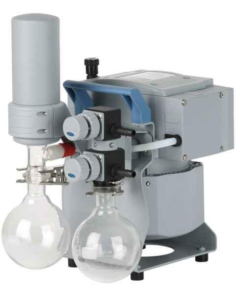 BrandTech VACUUBRAND MZ2C NT+AK Synchro+EK Dry Chemistry Vacuum Pump System 120V 50-60Hz