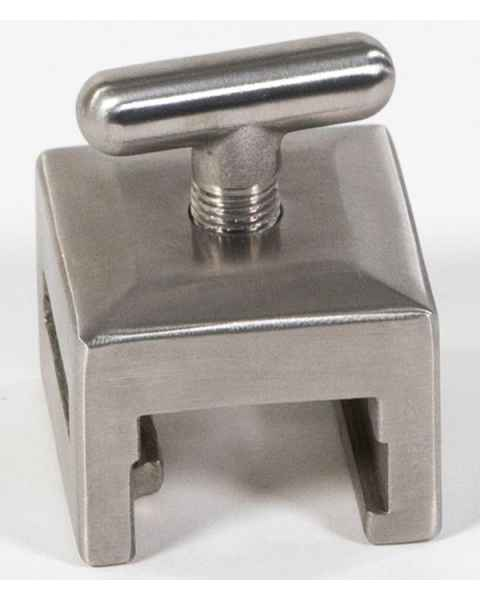 "Stainless Steel Basic Side Rail Socket - Fits Rectangular Post - Fits 1"" x 1/4"" Blade"