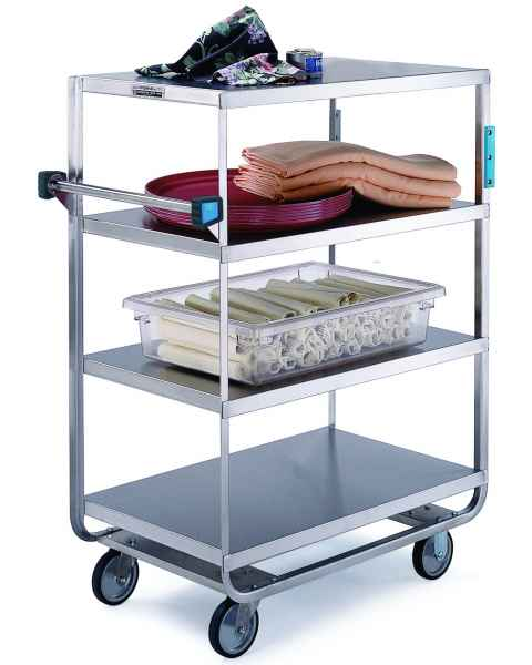 Lakeside SS Heavy Duty Multi-Shelf Cart - All Edges Down