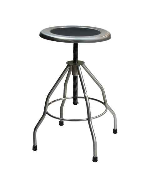 Blickman Model 7745SS Stainless Steel Stool Recessed Seat with Rubber Tips