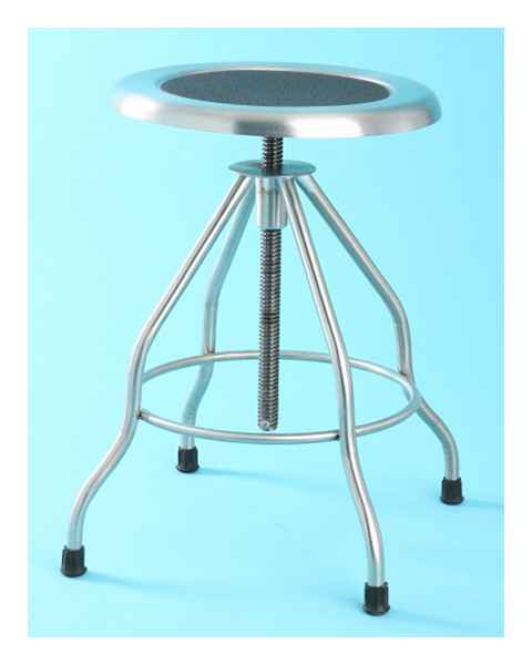 7745SS Stainless Steel Stool Recessed Seat with Rubber Tips