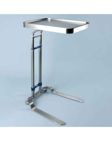 """Stainless Steel Benjamin Double Post Foot-Operated Mayo Stand - Tray Size 16"""" x 21"""""""