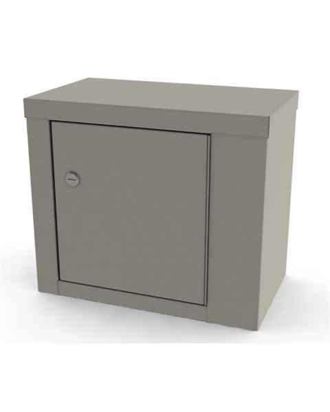 """Large Painted Steel Narcotic Cabinet, Single Door & Lock - 12"""" H x 14.125"""" W x 8.125"""" D"""