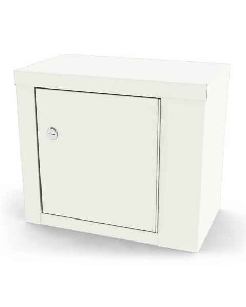 "Model 7782 Large Painted Steel Narcotic Cabinet, Single Door & Lock - 12"" H x 14.125"" W x 8.125"" D"