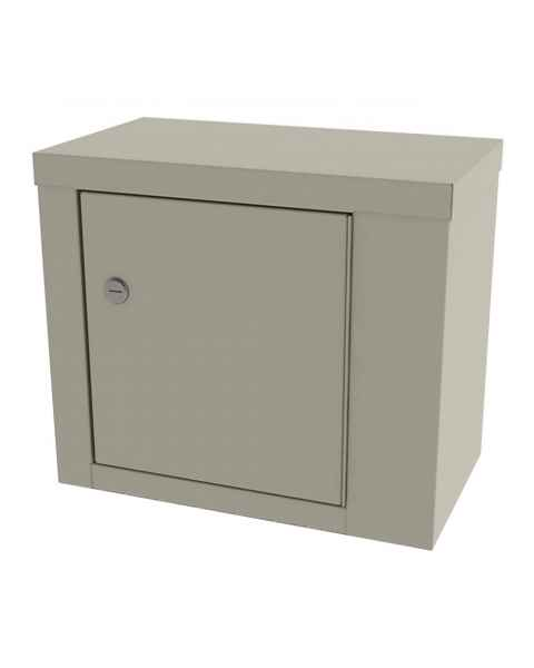 """Model 7782 Large Painted Steel Narcotic Cabinet, Single Door & Lock - 12"""" H x 14.125"""" W x 8.125"""" D"""