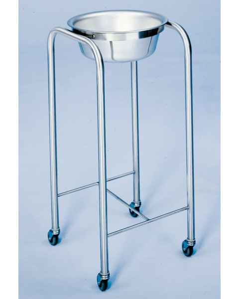 Stainless Steel Solution Stand - Single Basin with H-Brace