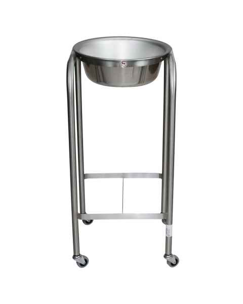 Blickman Model 7807SS-HB Stainless Steel Solution Stand - Single Basin with H-Brace