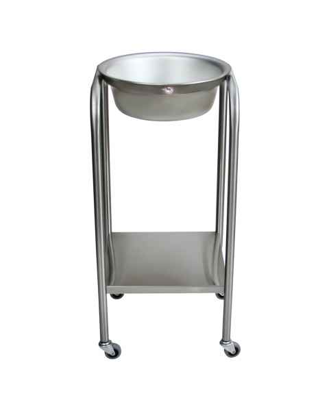 Blickman 7807SS Stainless Steel Solution Stand - Single Basin with Shelf
