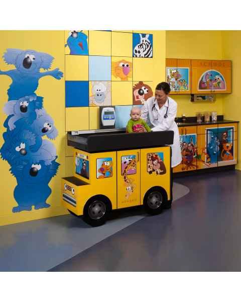 Clinton Complete Model 7822-X Zoo Bus Pediatric Scale Table & Cabinets