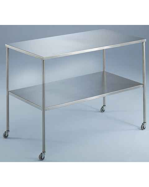 Blickman Stainless Steel Instrument Table With Shelf