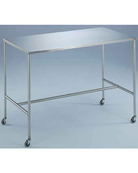 Blickman Stainless Steel Instrument Table With H-Brace