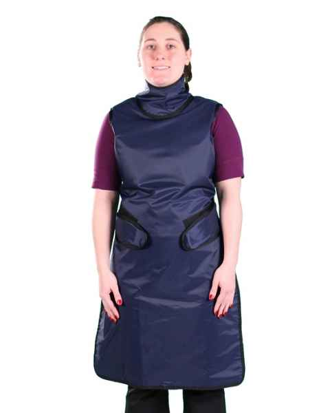 Flex Back - Hook and Loop Closure - Regular Lead Apron with Sewn In Collar
