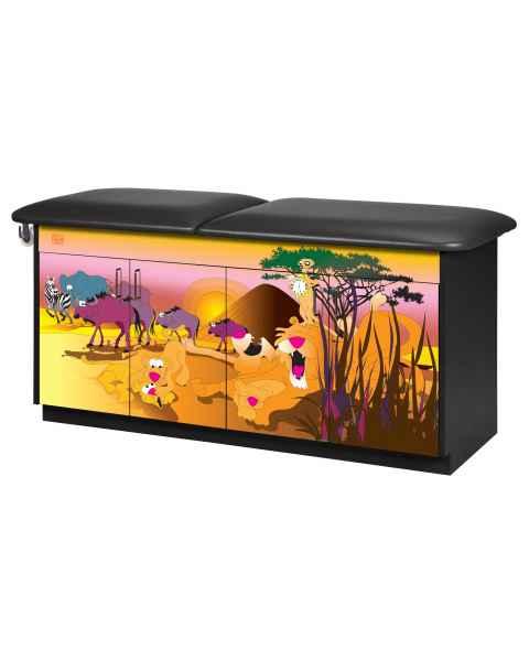 Clinton Model 7951 Imagination Series Serengeti Sunrise Pediatric Treatment Table