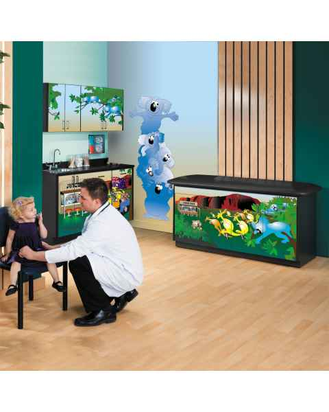 Clinton Complete Kangaroo Country Pediatric Treatment Table & Cabinets