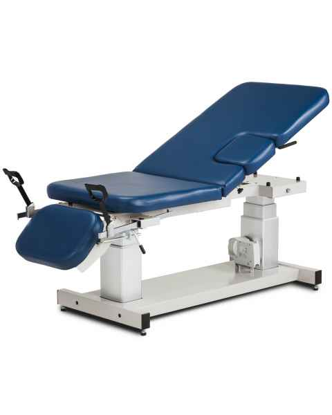 "Clinton 80079 27""W Multi-Use Power Imaging Trendelenburg Table with Stirrups & Drop Window"