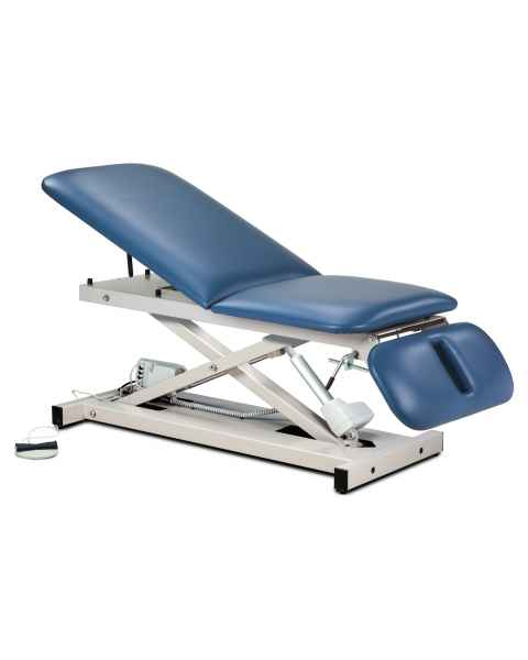 Clinton Open Base Power Table with Adjustable Backrest & Drop Section Model 80330