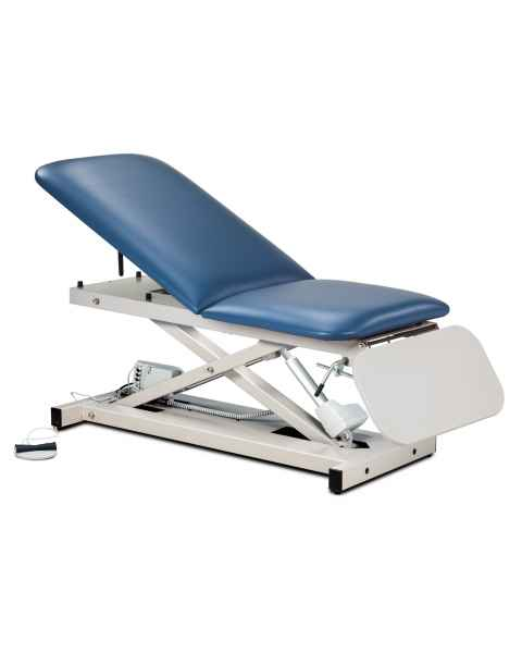 Open Base Power Casting Table with Adjustable Backrest & Laminate Leg Rest