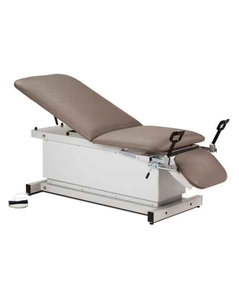 Shrouded Power Table with Stirrups, Adjustable Backrest & Drop Section