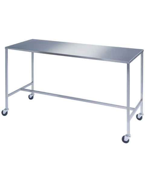 Lakeside Stainless Steel H-Brace Instrument Table