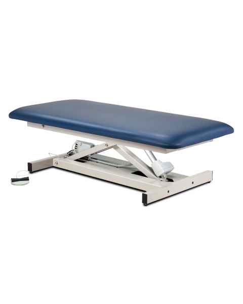 "Extra Wide Open Base Bariatric Straight Top Power Table - 34"" Width"