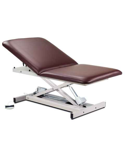 "Extra Wide Open Base Bariatric Power Table with Adjustable Backrest - 40"" Width"