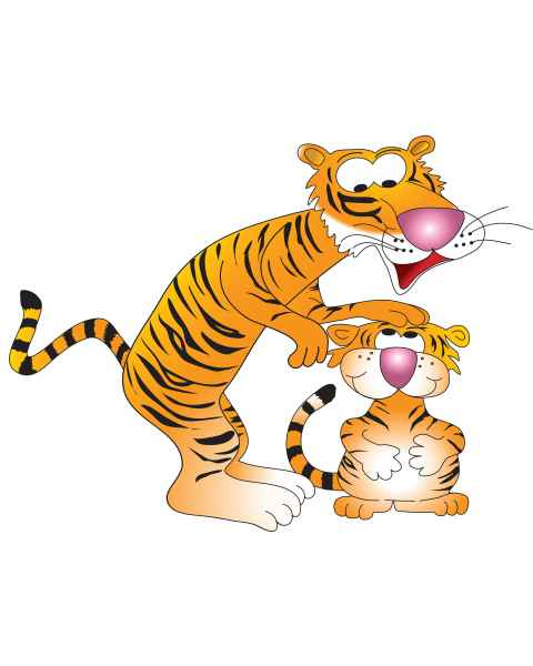 Clinton 9733-A Tiger Buddies Graphic