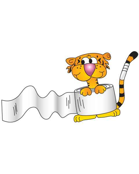Clinton 9735 Bandage Tiger Graphic