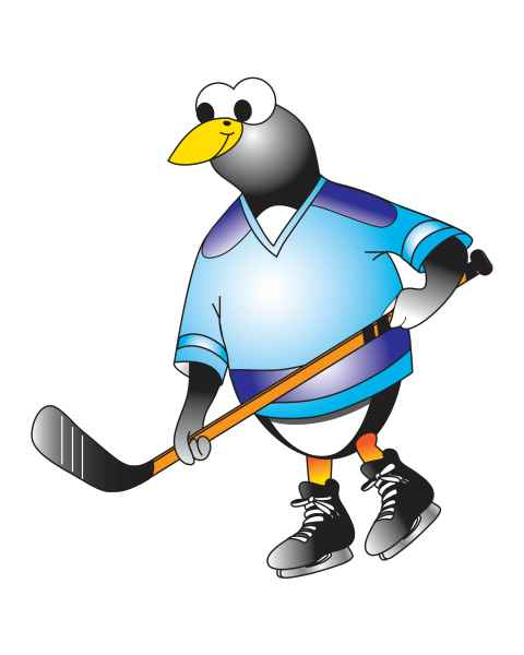 Clinton Hockey Penguin Graphic