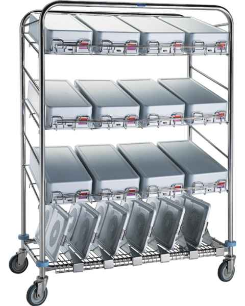 Pedigo Instrument Container Wash Cart