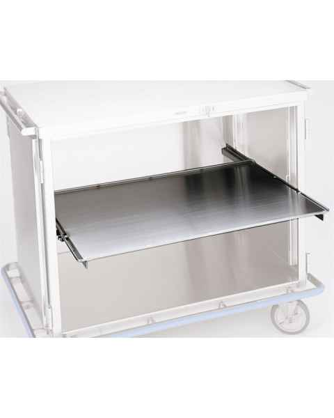 Pedigo Stainless Steel Roll Out Solid Shelf for CDS-242 and CDS-245 Surgical Carts