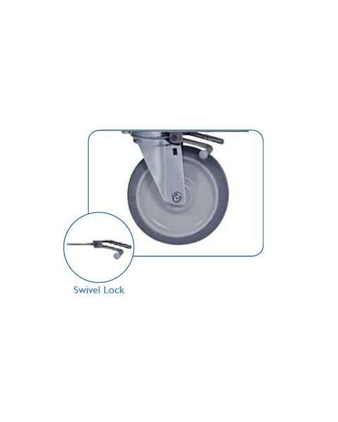 "Pedigo Swivel Lock For 6"" Casters - Set Of 2 (Factory Installed)"