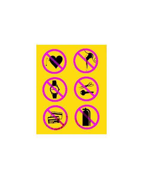 Techno Aide CMM-06 Silk Screened Sign No Metal Symbols