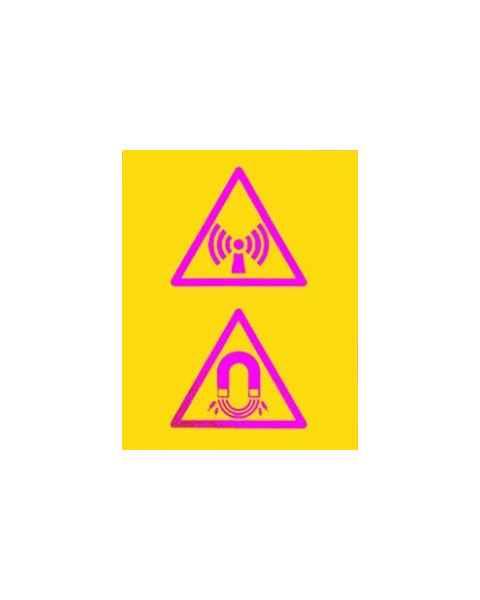 Silk Screened Sign Non Ionising Radiation Magnet Field Symbol CMR-02