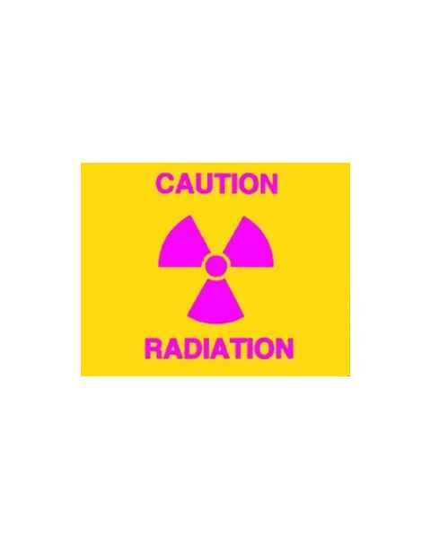 Techno Aide CRA-15 Silk Screened Sign Caution Radiation