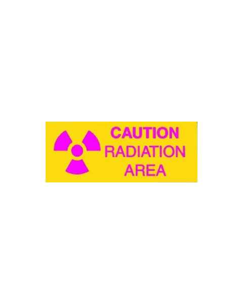Techno Aide CRA-17 Silk Screened Sign Caution Radiation Area