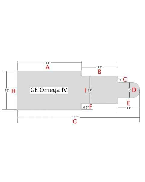 GE Omega IV Table Pad