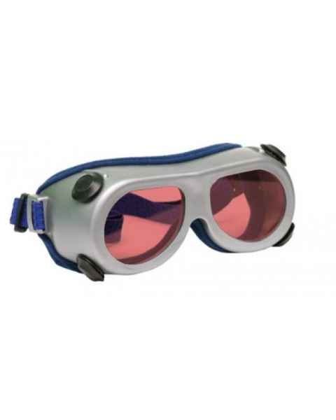 Flat Glass Model 55 Laser Glasses - Pink Lenses - Wavelength 190-568nm