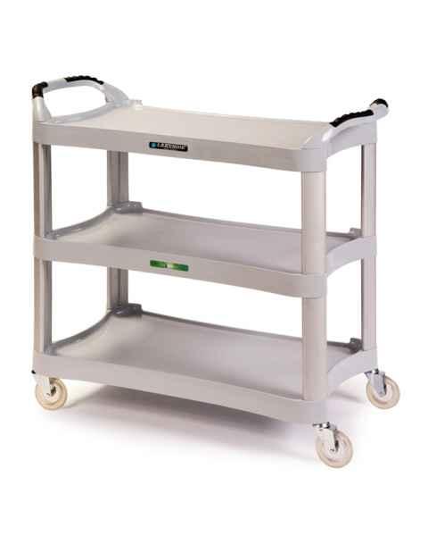Lakeside 2510 Light Gray Plastic Utility Cart 500Lbs Capacity