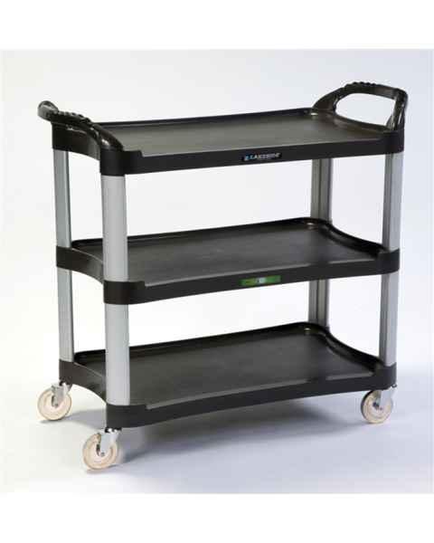 Lakeside 2512 Charcoal Plastic Utility Cart 500Lbs Capacity