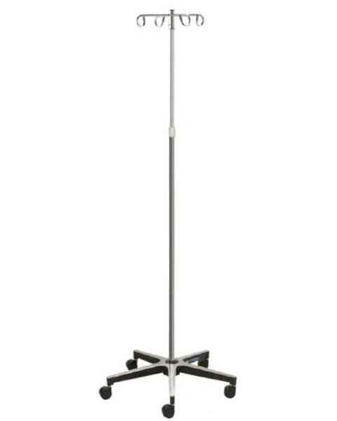 Lakeside 4810 5-Leg Cast Aluminum Base 4-Hook Chrome IV Stand