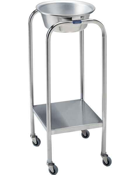 Pedigo Stainless Steel Single Basin Stand With 1 Stainless Steel Basin & Lower Shelf