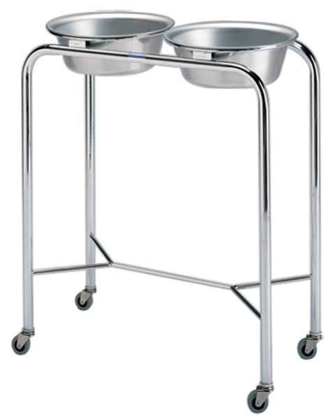 Pedigo Stainless Steel Double Basin Stand With 2 Basins & Y-Brace